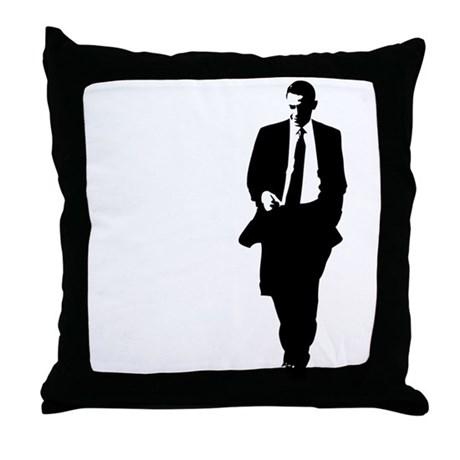 460x460 Big Obama Silhouette Throw Pillow By Bigobama