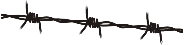 600x148 Barbed Wire Clip Art