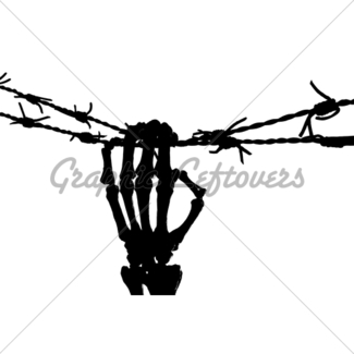 325x325 Skeleton Hand And Barbed Wire Gl Stock Images
