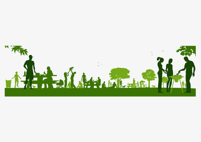 650x461 Green City Silhouette, Green, Movement, Barbecue Png And Vector