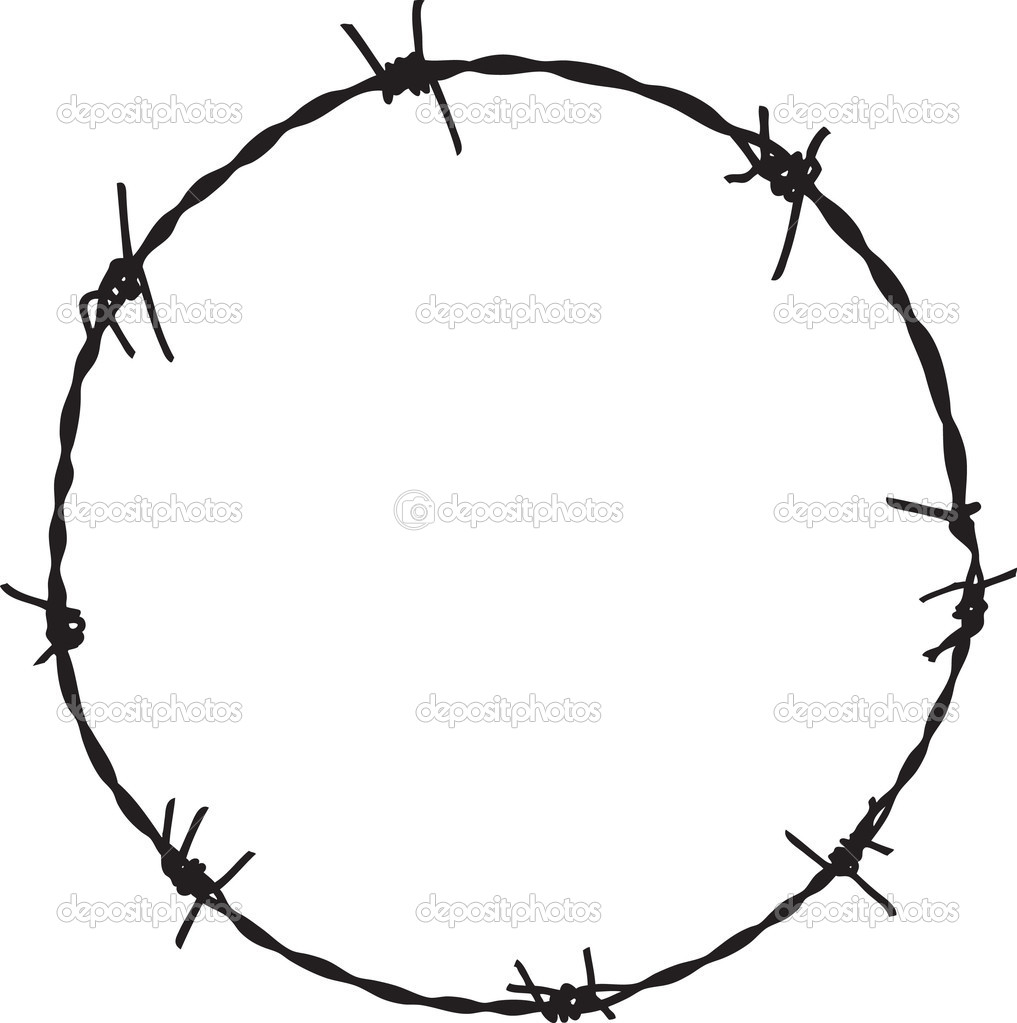 1017x1023 Barbed Wire Circle Clipart