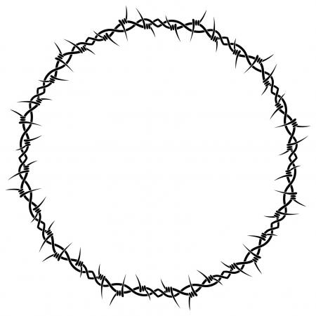 450x450 Barbed Wire Peace Dove Clipart