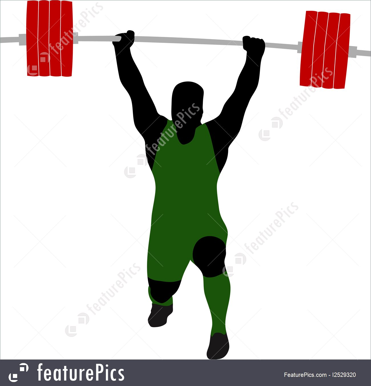 1300x1350 Athletics Silhouette Of Weightlifter