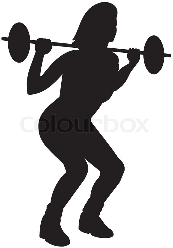 561x800 Gym Fitness Silhouette Clipart