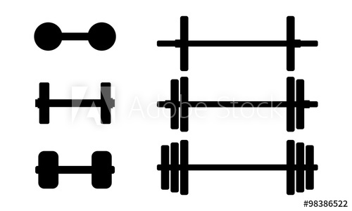 500x300 Silhouette Barbell Fitness Equipment Set