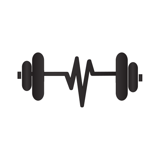 550x550 Silhouette Dumbbell With Symbol Life