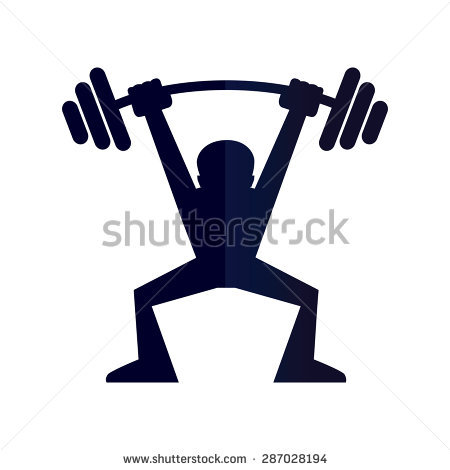 450x470 Silhouette Skinny Girl Lifting Weights Free Clipart