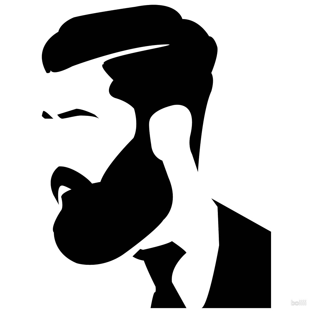1000x1000 Gentleman Barber Shave Haircut Silhouette By Boiiii Redbubble
