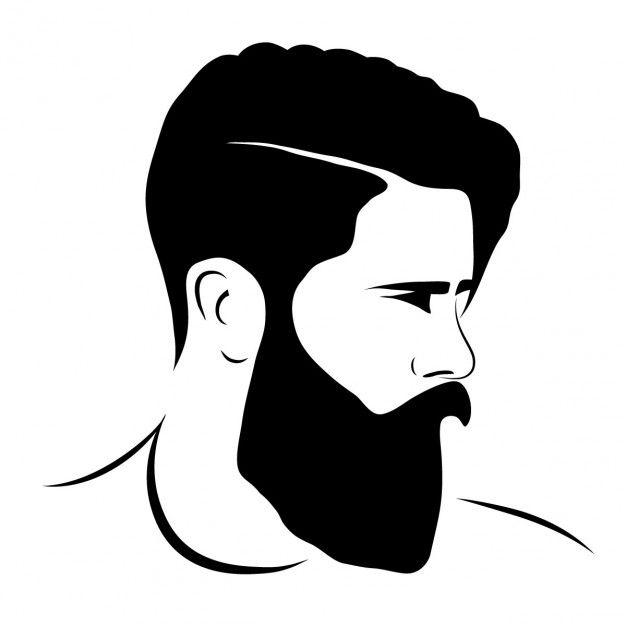 626x626 Hipster Beard Illustration