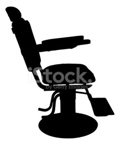 247x299 Antique Barber Chair Silhouette Stock Vectors