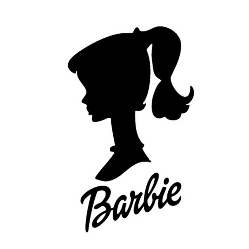 800x800 159.5cm Barbie Doll Head Personalized Car Stickers And Decals