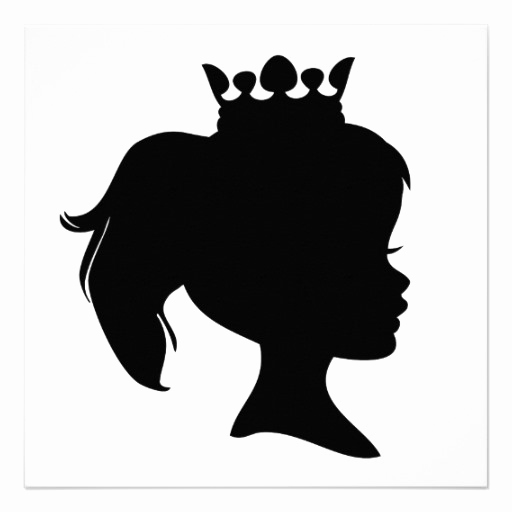 512x512 Barbie Head Silhouette Template Elegant Princesa Negra T Shirts Y