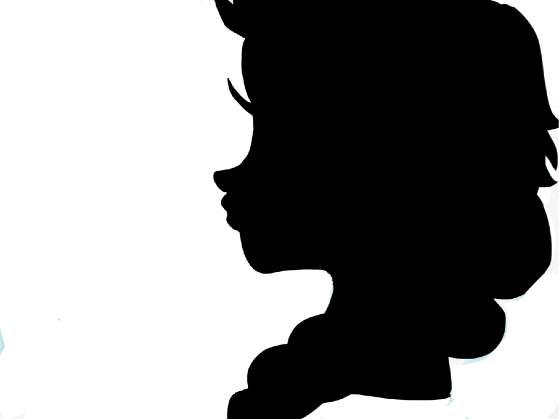 Barbie Head Silhouette Template