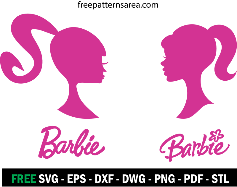 Barbie Logo Silhouette At Getdrawingscom Free For Personal Use