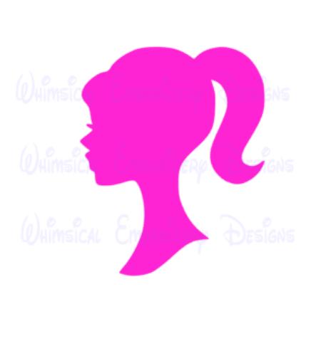 450x500 Cut Designs Barbie Head Silhouette Cut Design