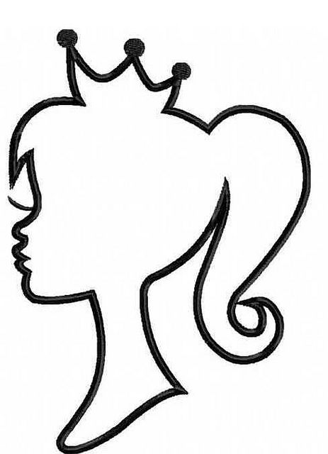 463x640 Princess Silhouette One Color Princess Silhouette, Silhouette