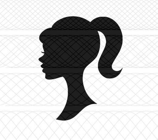 520x461 Barbie Doll Head Silhouette Svgpngstudio3 Cut Files