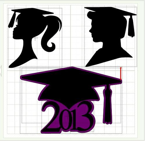 498x483 Grad Silhouette Image Girl Graduate Silhouette Ken And Barbie