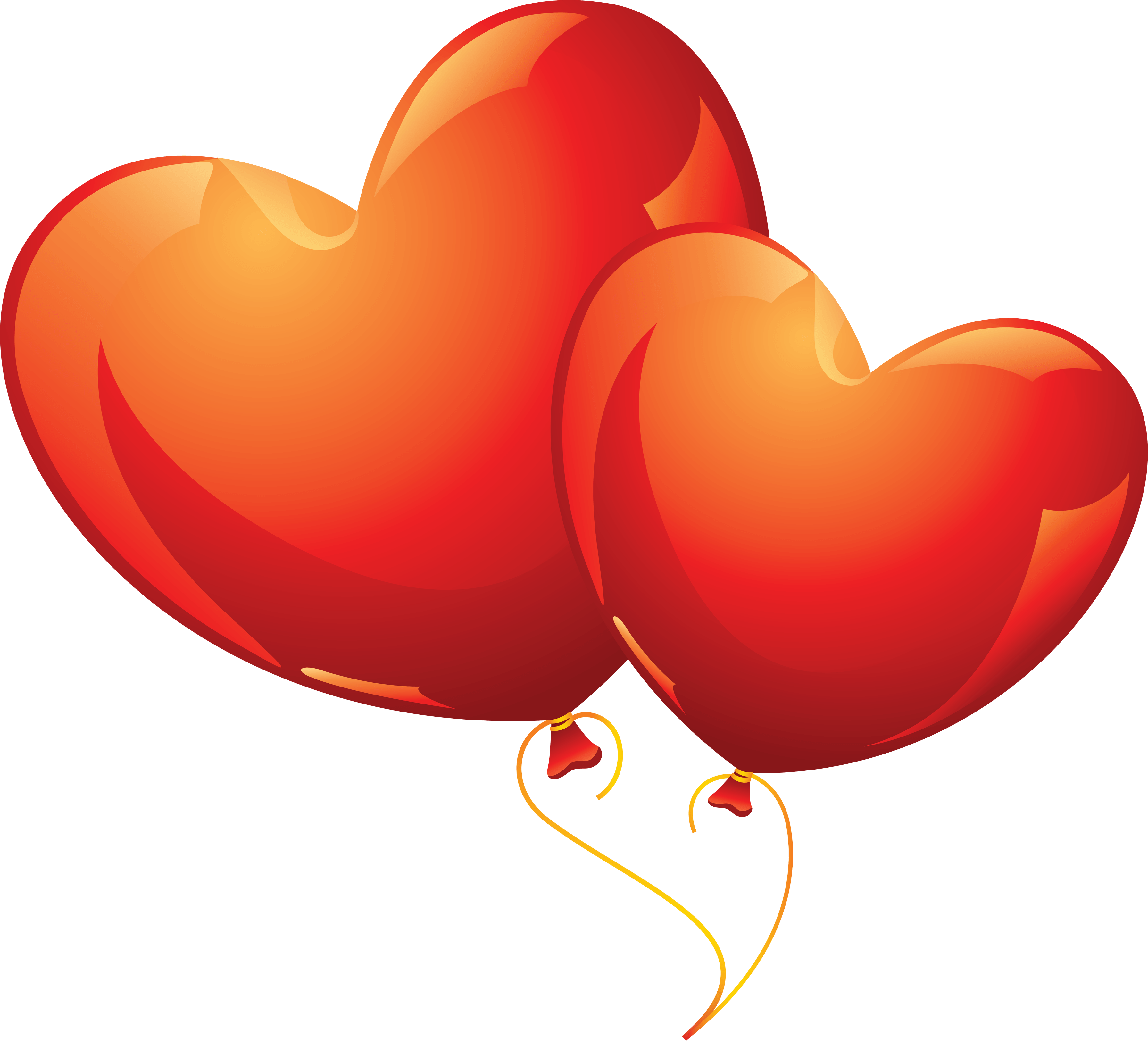 3582x3248 Download Heart Balloon Png Image Download Heart Balloons Hq Png