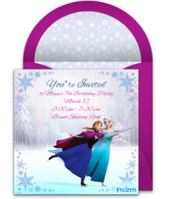 240x280 Free Girl Birthday Party Online Invitations Punchbowl