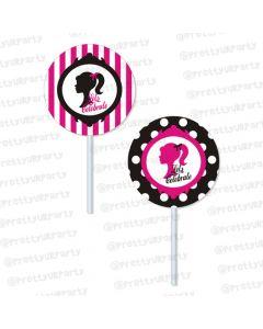240x300 Barbie Silhoutte Theme Party Barbie Silhoutte Return Gifts
