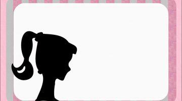 360x200 Barbie Silhouette Free Printable Invitations Invitation