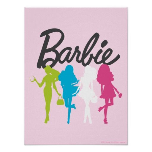 512x512 Barbie Colorful Silhouettes Poster Silhouettes And Barbie Birthday