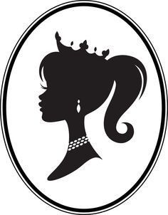 236x302 Cameo Princess Silhouette Vinyl Decal By Vinyldesignsbycj On Etsy