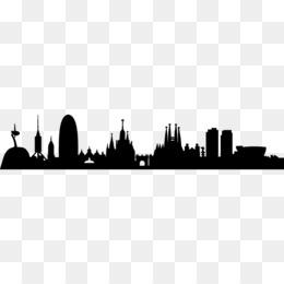 260x260 Free Download Barcelona Skyline Silhouette