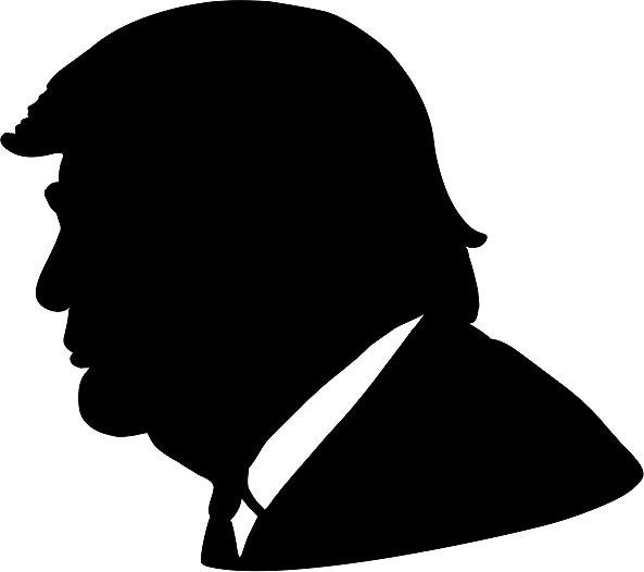 593x526 Trump Silhouette Stickers By Polytics Redbubble