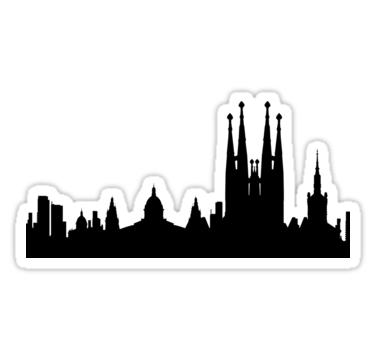 375x360 Barcelona Skyline Stickers By Maximgertsen Redbubble