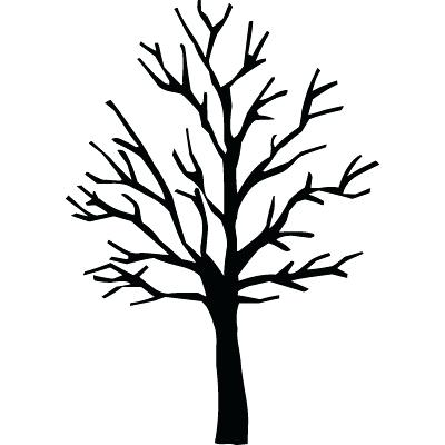 Bare Christmas Tree Clipart.Bare Oak Tree Silhouette At Getdrawings Com Free For