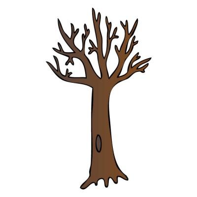 400x400 Bare Tree Silhouette