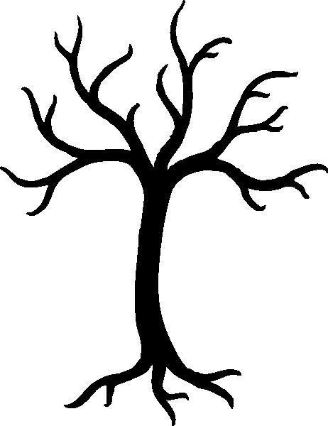 462x600 Bare Tree Silhouette Clip Art