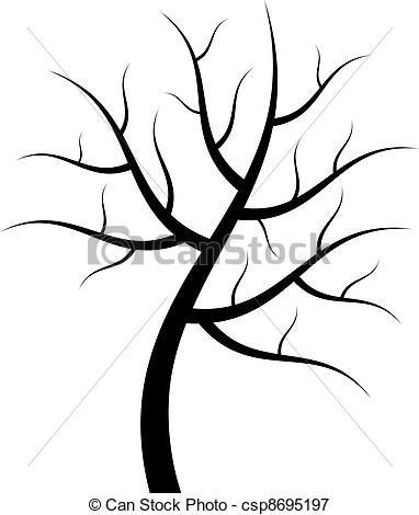 382x470 Bare Tree Silhouette Clipart For Tree Silhouette Clip Art Simple