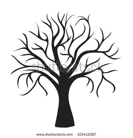 450x470 Dead Tree Clipart Leave Silhouette