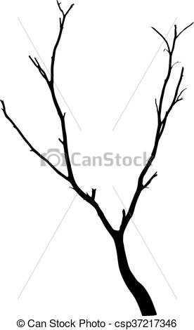 276x470 Vector Black Silhouette Of A Bare Tree Eps Vector