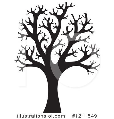 400x420 Bare Tree Silhouette Clip Art