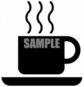 290x300 Clipart Picture Of A Steaming Cup Of Coffee Silhouette