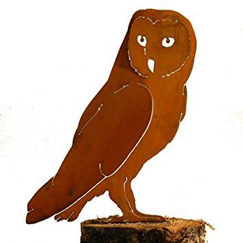355x355 Elegant Garden Design Barn Owl, Steel Silhouette