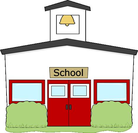 467x450 Schoolhouse Silhouette Clipart