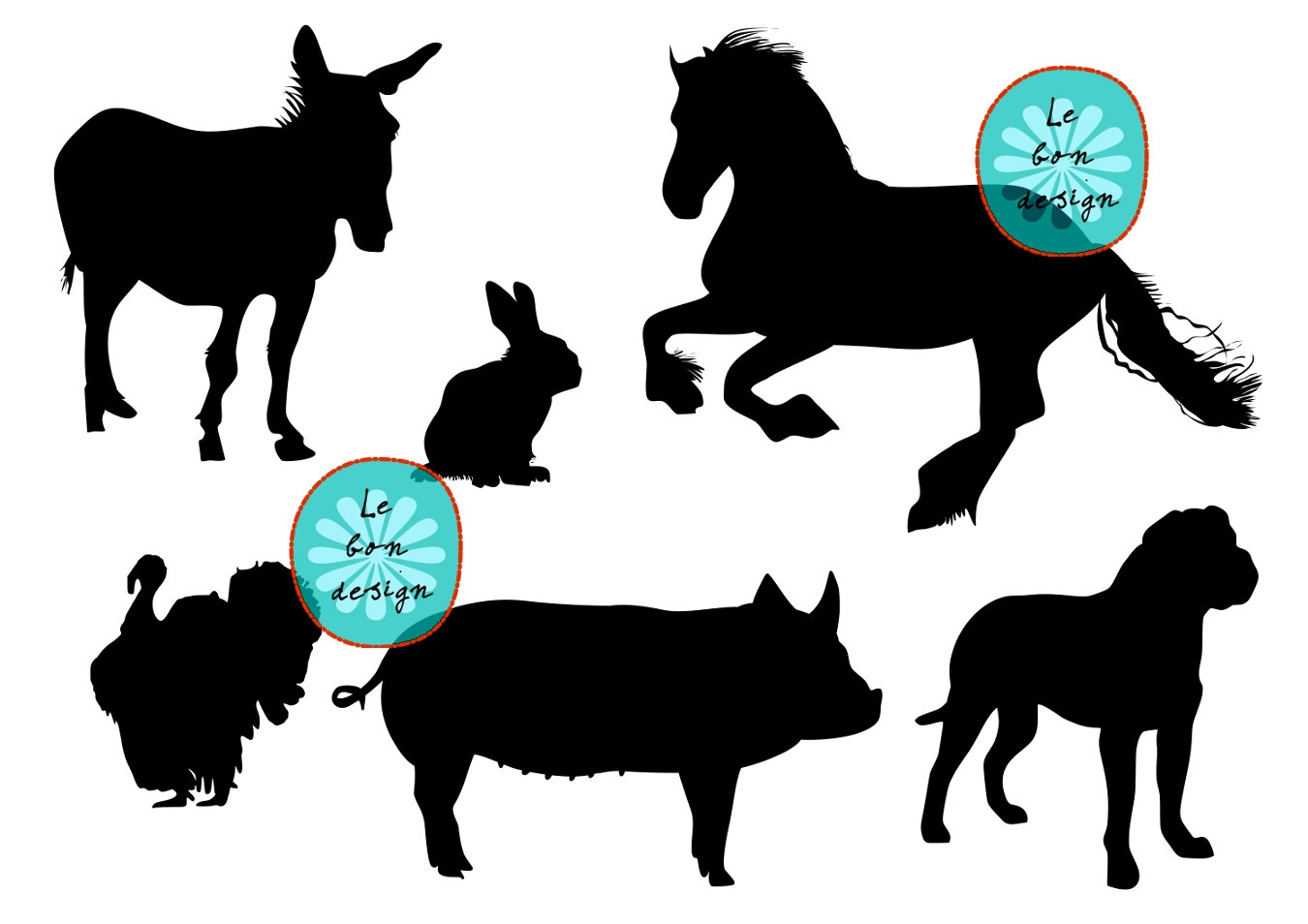 1350x954 Farm Silhouette Clip Art Clipart