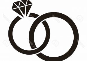 300x210 Ring Wedding Pencil And In Color Black Silhouette On Stock Vector
