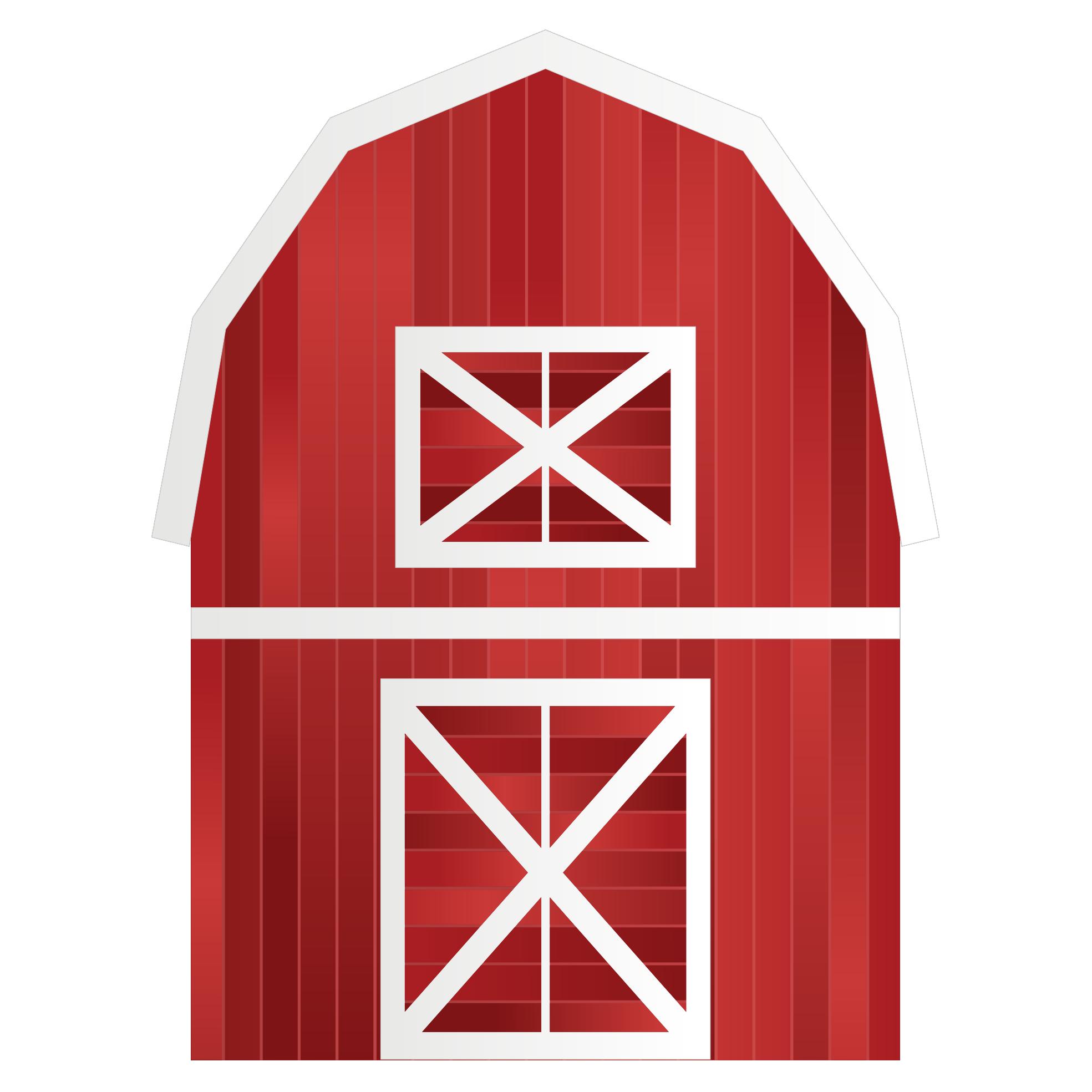 1969x1969 Clip Art Abstract Farm Barn Scalable Vector