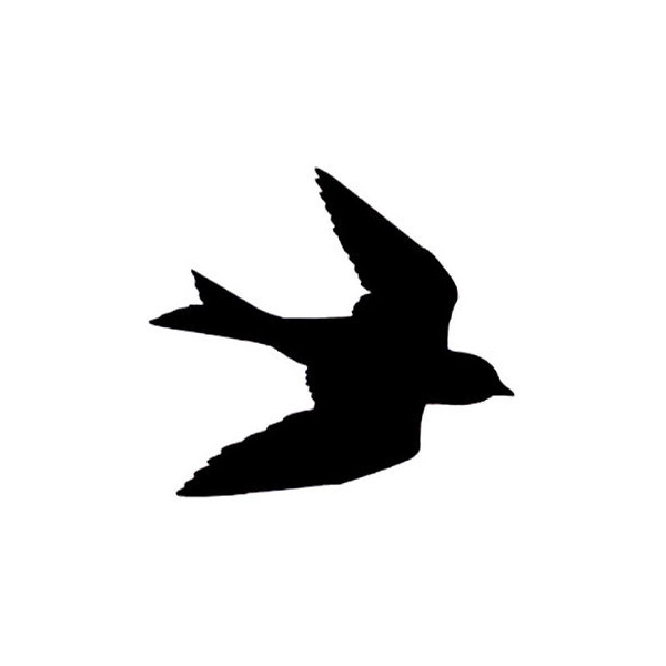 600x600 Clearance Silhouette Swallow In Flight Rubber Stamp Large Bird