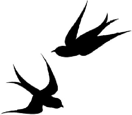 425x369 Swallow Clipart Two