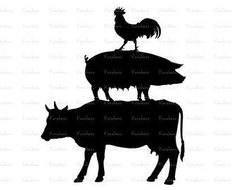 340x270 Farm Animal Svg Farm Animal Clipart Barnyard Animal Svg
