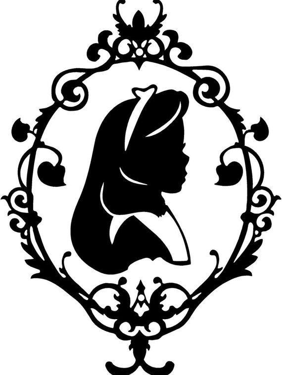570x759 Alice Au Pays Des Merveilles Alice Silhouette Par Atrumdesignco