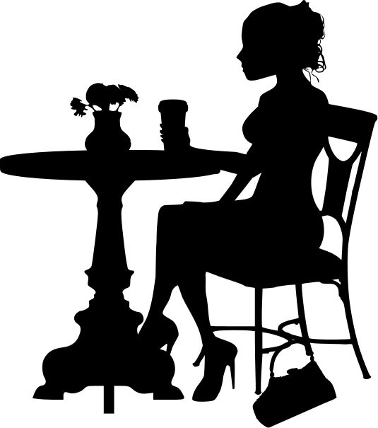 535x605 Coffee Clipart Silhouette Png