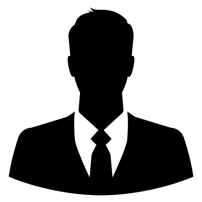 692x692 Silhouette Of A Businessman For Use As A Profile Picture Website
